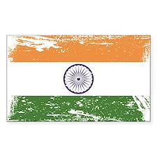 Grunge India Flag Decal