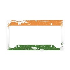 Grunge India Flag License Plate Holder