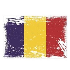 Grunge Romania Flag Postcards (Package of 8)