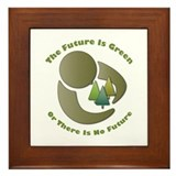 Future Is Green Framed Tile