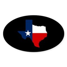 Texas Flag on Texas Outline Decal