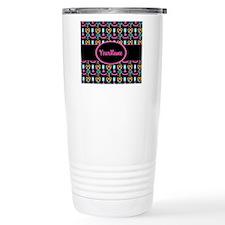 Modern Pink Cupcakes Monogrammed Travel Mug