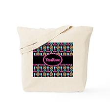 Modern Pink Cupcakes Monogrammed Tote Bag