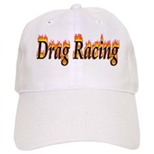 Drag Racing Flame Baseball Baseball Cap
