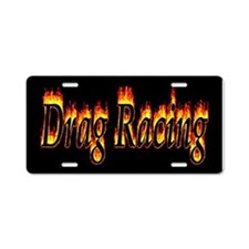 Drag Racing Flame Aluminum License Plate
