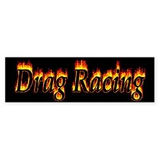 Drag Racing Flame Bumper Bumper Sticker