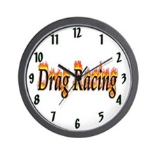 Drag Racing Flame Wall Clock