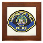 Huntington Park Police Framed Tile