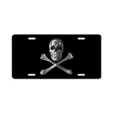 Jolly Roger Skull Aluminum License Plate