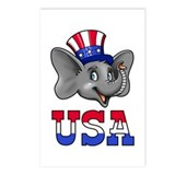 Republican Elephant Postcards (Package of 8)