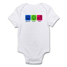 Peace Luck Run Infant Body Suit