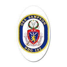 DDG 102 USS Sampson 20x12 Oval Wall Decal