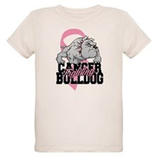 Breast Cancer Bulldog T-Shirt