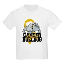 Childhood Cancer Bulldog T-Shirt