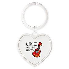 Ukulele Heart Keychain
