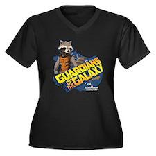 Guardians of Women's Plus Size V-Neck Dark T-Shirt