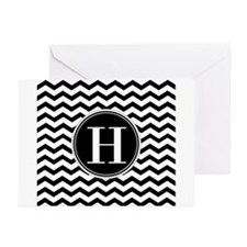 Any Letter, Black and Wh Greeting Cards (Pk of 20)