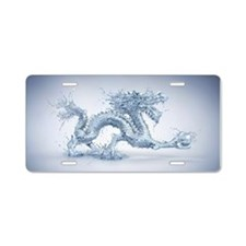 Water Dragon Aluminum License Plate