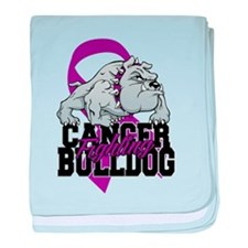 Pancreatic Cancer Bulldog baby blanket