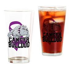 Pancreatic Cancer Bulldog Drinking Glass