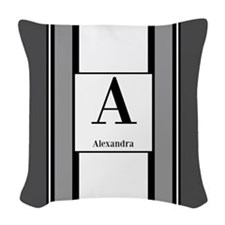 Stripes Woven Throw Pillow