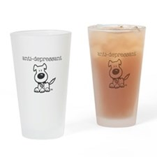Anti Depressant Drinking Glass