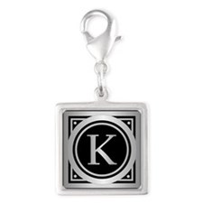 Deco Monogram K Charms