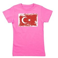 Grunge Turkey Flag Girl's Tee
