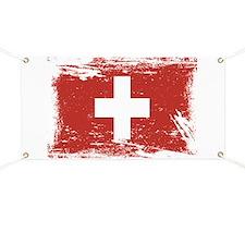 Grunge Switzerland Flag Banner