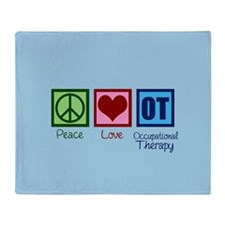Peace Love Ot Throw Blanket