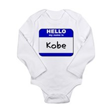 Cute Hello my name Long Sleeve Infant Bodysuit