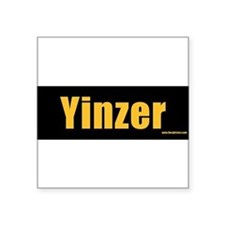 "Cute Yinzer Square Sticker 3"" x 3"""