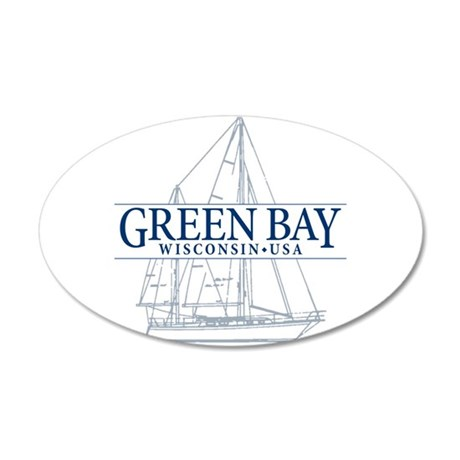 Green Bay - 20x12 Oval Wall Decal