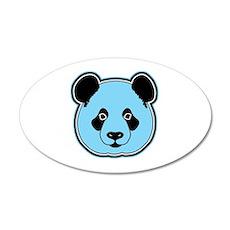 panda head berry 35x21 Oval Wall Decal