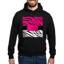 Pink Black Zebra Personalized Hoodie