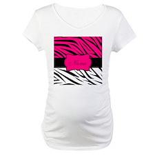 Pink Black Zebra Personalized Shirt