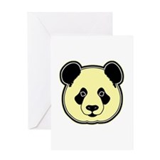 panda head lemon Greeting Card