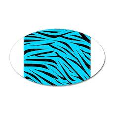 Teal and Black Zebra Stripes Wall Decal
