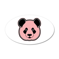 panda head melon 20x12 Oval Wall Decal