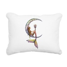 Mermaid Moon Fantasy Art Rectangular Canvas Pillow