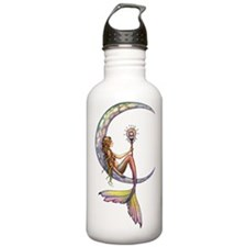 Mermaid Moon Fantasy Art Water Bottle