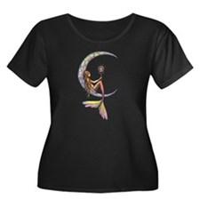 Mermaid Moon Fantasy Art Plus Size T-Shirt