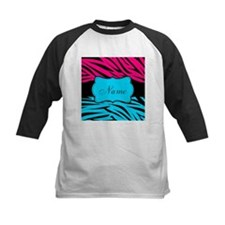 Personalizable Hot Pink and Teal Baseball Jersey
