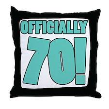 70th Birthday Humor Throw Pillow