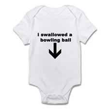 I SWALLOWED A BOWLING BALL Infant Bodysuit