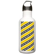 Rugby Striped black go Sports Water Bottle