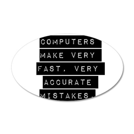 Computers Make Very Fast Accurate Mistakes Wall De