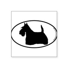 "Cute Scottie dog Square Sticker 3"" x 3"""