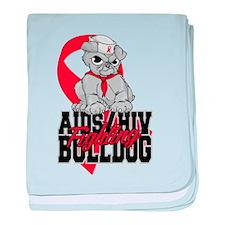 AIDS Bulldog baby blanket