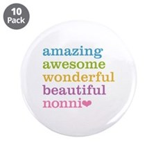 "Nonni - Amazing Awesome 3.5"" Button (10 pack)"